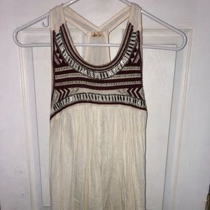Hollister Maroon & White Beaded Top